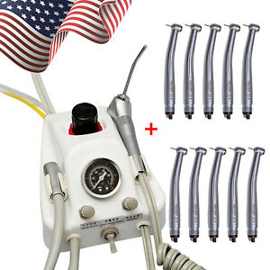 Portable Dental Turbine Unit For Dentist Lab 4 Holes 10 High Speed Handpiece