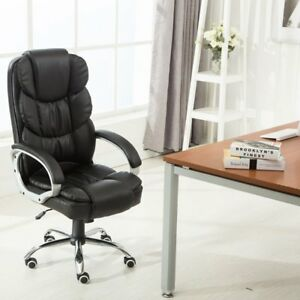 High Black Pu Leather Executive Office Desk Task Computer Boss Luxury Chair Us