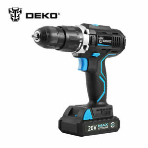 20v Electric Screwdriver Cordless Drill Impact Drill Power Driver Max Dc 13mm