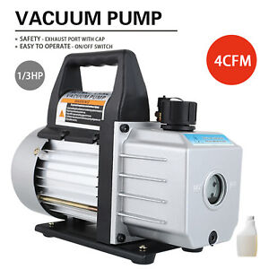 1 3hp Deep Vacuum Pump 110v 4 Cfm Hvac Ac Refrigerant Charge Black