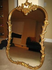 Mirror Ornate Gold Frame Louis Bierfeld Co Of Chicago Il Circa 1880