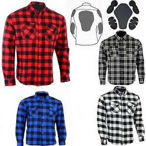 Mens CE armour Motorcycle Motorbike Bikers Sports Flannel shirt made with KEVLAR AU $139.00