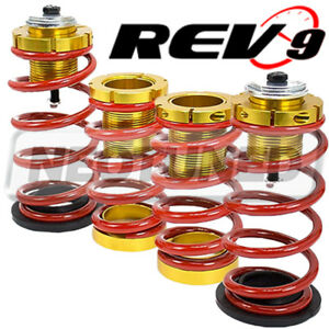 For Honda Civic 12 15 all Models Lowering Spring W Hi low Sleeve Kit Red gold