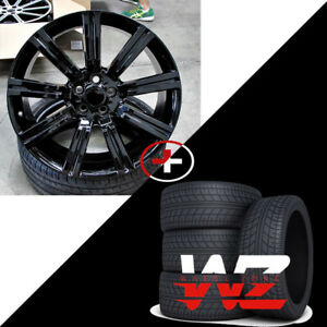 20 Stormer Style Gloss Black Wheels W tires Fits Land Rover Range Rover Hse Lr3