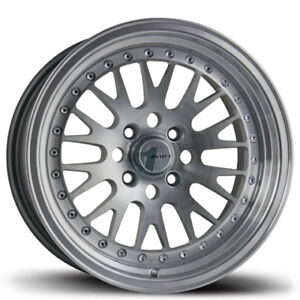Avid1 Av12 15x8 Rims 4x100 Et25 Silver Rims Wheels set