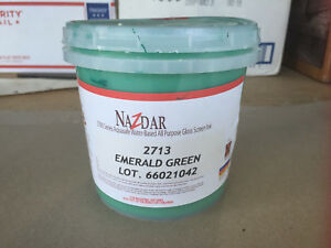 Nazdar Graphic Screenprint Silkscreening Ink 2713 Emerald Green Quart