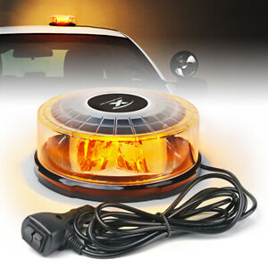 Xprite Amber 24led Strobe Light Rotating Beacon Flashing Warning Emergency 12v