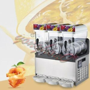 Commercial 3 Tank 110v Frozen Drink Slush Slushy Making Machine Smoothie Maker