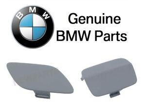 For Bmw 328i 335i Set Pair Of 2 Front Rear Tow Hook Covers Primered Genuine
