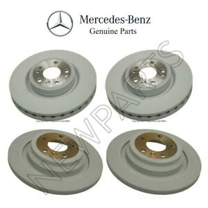 For Mercedes W166 Ml350 2012 2015 Set Of Front Rear Brake Rotors Kit Genuine