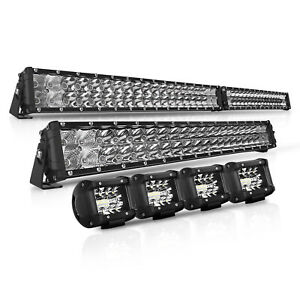 16 inch 1080w Quad Row Led Work Light Bar Spot Offroad Suv Truck 4wd 4x4 Lamp 15