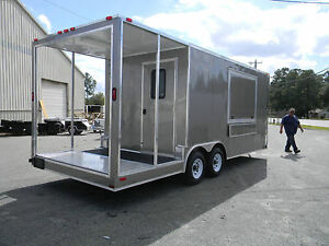 New 8 5 X 20 Enclosed Concession Stand Food Vending Bbq Porch Trailer Texas