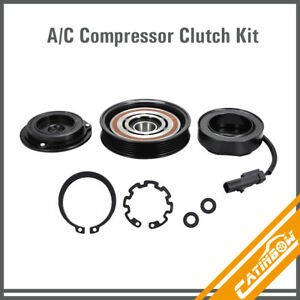 Ac A C Compressor Clutch Kit Pulley Coil For Dodge Ram 1500 Jeep Mitsubishi