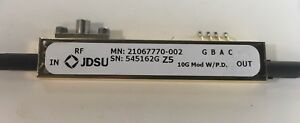 Jdsu Z5 Modulator Lithium Niobate 10gb s 20ghz Integrated Photodiode