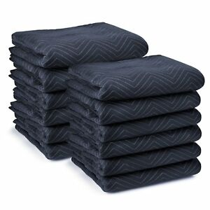 Sure max 12 Moving Blanket Furniture Pads Pro Economy 80 X 72 Navy Blue