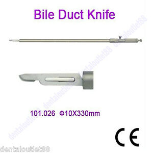 Bile Duct Knife 10x330mm Laparoscopy Ce Approved High Quality