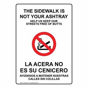 Compliancesigns Aluminum No Smoking Sign 20 X 14 With English Spanish White