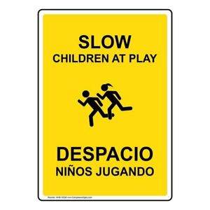Compliancesigns Aluminum Playground Sign 20 X 14 In With English Spanish