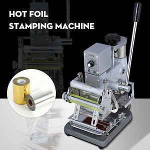 2 4 x3 5 Hot Foil Stamping Machine Bronzing For Pvc Id Credit Card W foil Paper