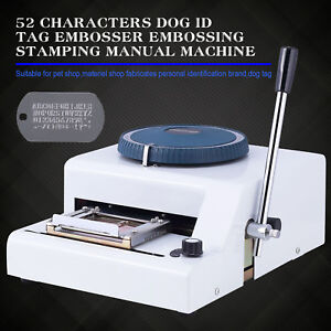 52 Characters Dog Id Card Tag Embosser Embossing Stamping Manual Machine