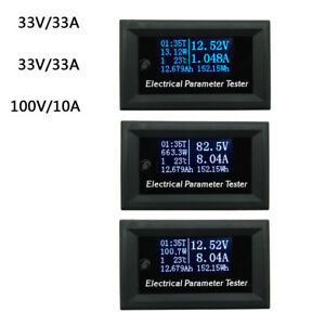 New Oled Lcd 33v 10a Dc Combo Meter Voltage Current Power Battery Monitor