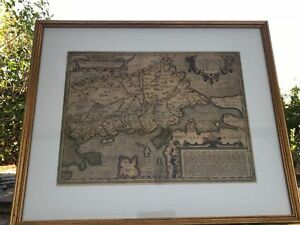Ortelius 16th Century Antique Map Of Thracie Greece Framed