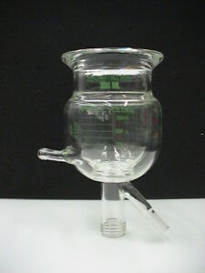 Chemglass 300ml Reactor Glass Reaction Vessel Jacketed Lower Drain Perfect