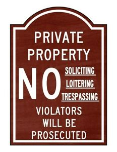 Compliancesigns Engraved Plastic No Soliciting Loitering Trespassing Engraved