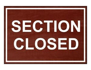 Compliancesigns Engraved Plastic Section Closed Sign 10 X 7 In With English
