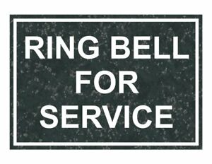 Compliancesigns Engraved Plastic Ring Bell For Service Sign 10 X 7 In With
