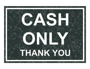 Compliancesigns Engraved Plastic Cash Only Thank You Sign 10 X 7 In With