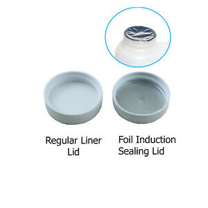 38 400 Polypropylene White Caps With Heat Induction Liner 10 100