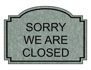 Compliancesigns Engraved Plastic Sorry We Are Closed Sign 10 X 7 In With