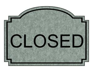 Compliancesigns Engraved Plastic Closed Sign 10 X 7 In With English Text