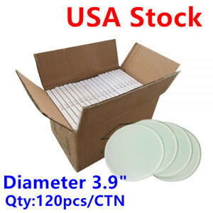 120pcs ctn Diameter 3 9 Round Sublimation Blank Glass Coaster Usa Stock