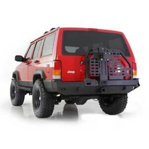 Smittybilt Xrc Rear Bumpers W hitch Tire Carrier Black For Jeep Cherokee 84 01