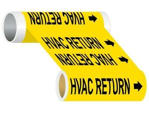 Compliancesigns Wide Tape Roll Asme A13 1 Hvac Pipe Marker 12 In X 30 Ft Yellow
