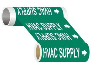 Compliancesigns Wide Tape Roll Asme A13 1 Hvac Pipe Marker 12 In X 30 Ft Green