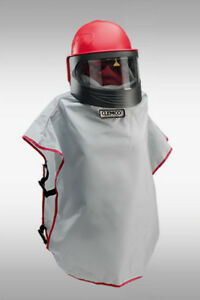 Clemco Apollo 600 Ce Operator Safety System Supplied air Respirator Blast Helme