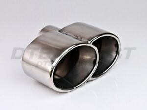 Different Trends Dt 24108 Dual Oval Double Wall Rolled Stainless Exhaust Tip