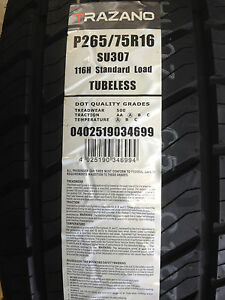 New Trazano Su307 Suv Performancetires P265 75r16 116h