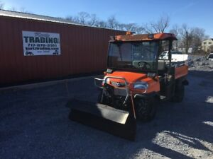 2006 Kubota Rtv900 4x4 Diesel Utility Vehicle W Snow Plow
