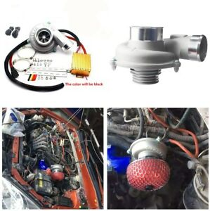Electric Supercharger Thrust Turbocharger Air Filter Intake Fuel Saver For Car