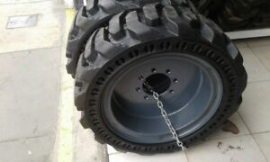 4 New Maxam Ms705 Solid Skid Steer Tires With Rims 10x16 5 Or 10 16 5