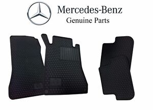 New Mercedes benz A209 C209 Clk All Season Floor Mats Black Genuine Bq6680680