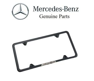 For Slimline License Plate Frame Black Genuine Q 6 88 0138 For Mercedes Benz Amg
