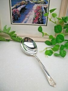 International Silver Royal Saxony Silverplate Casserole Serving Spoon 1935
