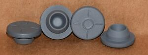Tex Lab Supply 20mm Round Gray Butyl Rubber Stoppers Qty 1000