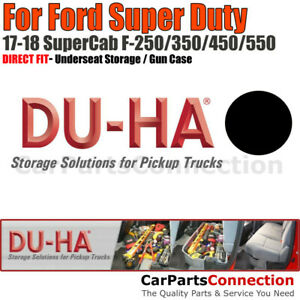 Du ha 20206 Underseat Storage For 17 18 Ford F 250 550 Super Duty Supercab Black