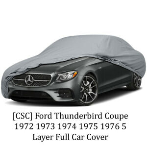 csc 5 Layer Full Car Cover For Ford Thunderbird Coupe 1972 1973 1974 1975 1976